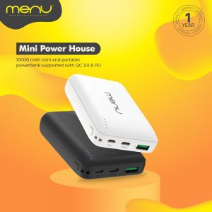 Menu Powerbank 10000Mah USB-C Mini 2 MP324 White