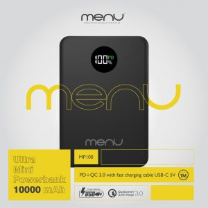 Menu Pb 10000Mah Usb-C & Led MP100 Black