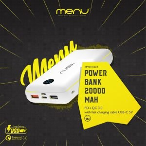 Menu Pb 20000Mah Usb-C & Led MP164 Black