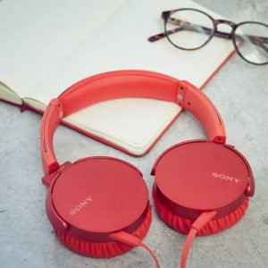 Sony Headphone Mdr-Xb550 Ap Red