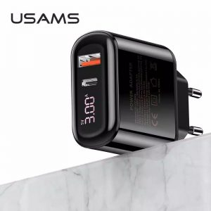 Usams Adaptor Fast Charger Digital US-CC8501