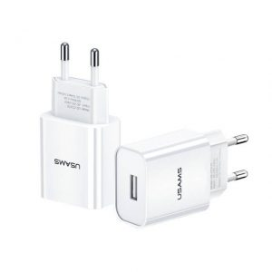 Usams T18 Single Usb Travel Charger US-CC075 White