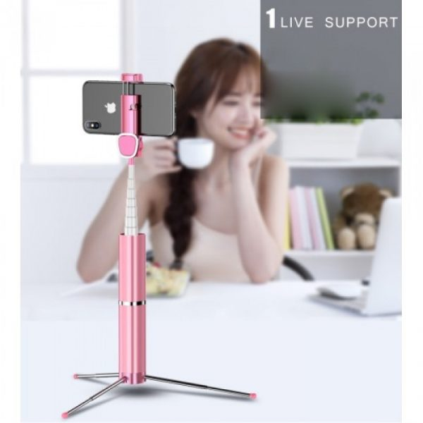 Usams Phantom Wireless Selfie Stick US-ZB064 Pink
